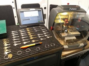 image of a locksmith key making machine