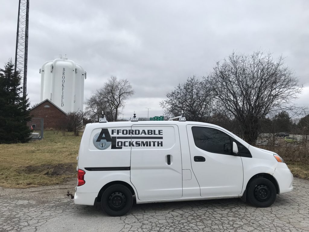 Locksmith work van in Brookfield Wisconsin